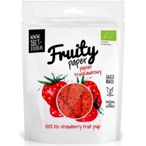 Diet Food Bio Fruity Paper orgaanilised marjakrõpsud, Maasika (25 g) 1/1