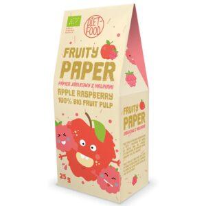 Diet Food Fruity Paper orgaanilised marjakrõpsud, Õuna-vaarika (25 g) 1/1
