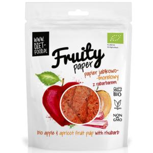 Diet Food Fruity Paper orgaanilised puuvilja-marjakrõpsud, Õuna-aprikoosi-rabarberi (25 g) 1/1