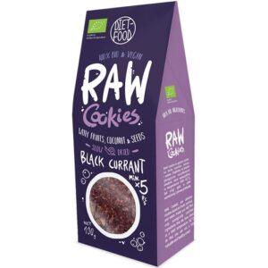 Diet Food Raw Cookies toorküpsised, Mustasõstra (100 g) 1/1