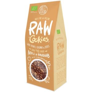 Diet Food Raw Cookies toorküpsised, Õuna-rabarberi-kaneeli (100 g) 1/1