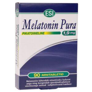 ESI melatoniini minitabletid 1,9 mg, pikatoimelised (90 tk) 1/1