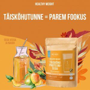 Healthy Weight täiskõhu proteiinisegu mango maitsega (300g) 1/2