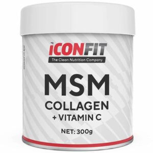 ICONFIT MSM Collagen + Vitamiin C, Jõhvika (300 g) 1/1