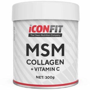 ICONFIT MSM Collagen + Vitamiin C, Maitsestamata (300 g) 1/1