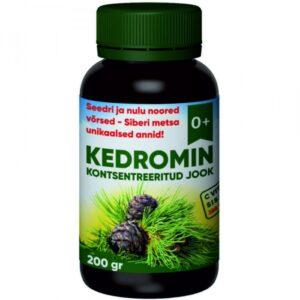 Kedromin kontsentreeritud jook seedri & nulu noortest võrsetest - C vitamiini sisaldus 288 mg/100g 1/1
