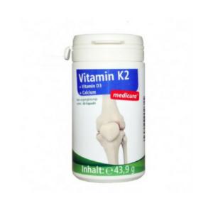 Medicura K2 vitamiini kapslid D3 ja kaltsiumiga 60tk 1/1