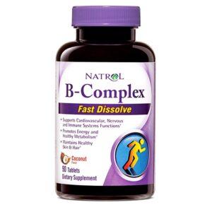 Natrol B-Complex, Coconut närimistabletid (90 tk) 1/1