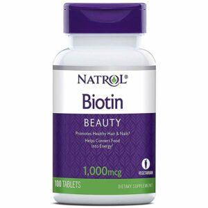 Natrol Biotin 1000 mcg tabletid (100 tk) 1/1