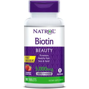 Natrol Biotin 5000 mcg närimistabletid (90 tk) 1/1
