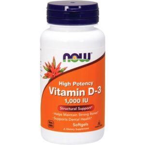 NOW Vitamin D3 1000 IU õlikapslid (180 tk) 1/1