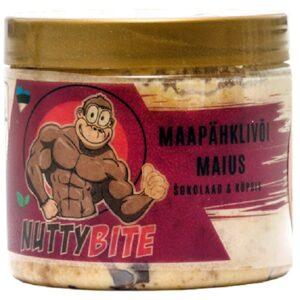 Nuttybite krõmpsuv maapähklivõi maius, Tumeda šokolaadi & täisteraküpsise (250 g) 1/1