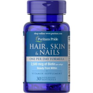 Puritan's Pride Hair, Skin and Nails õlikapslid (30 tk) 1/1