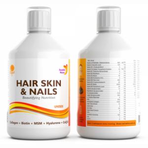 Swedish Nutra Hair, Skin & Nails Multivitamiin magusainega (500 ml) 1/1