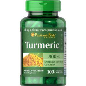Puritan's Pride Turmeric kurkumi kapslid (100 tk) 1/1